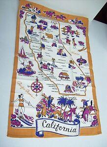 Vintage Printed Towel - CALIFORNIA