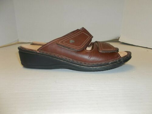 Womens Size 38/7.5 Finn Comfort Brown Leather Slid