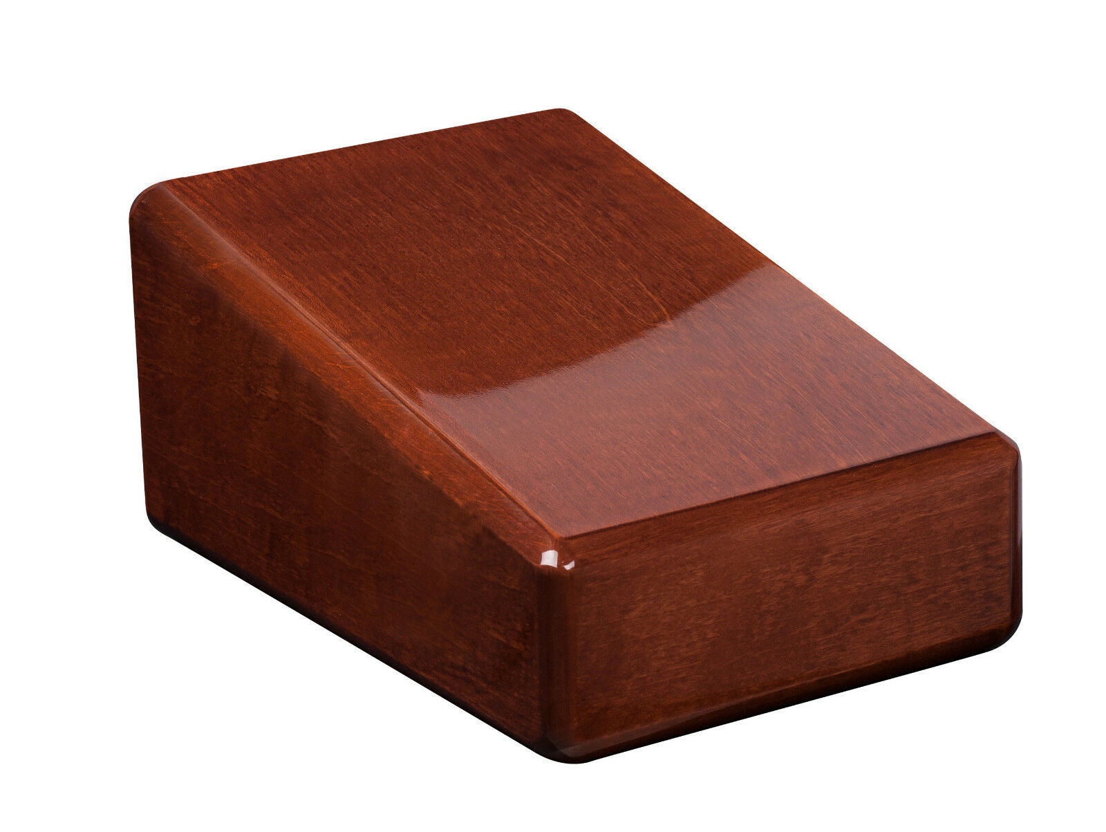 Solid wood casket Cremation urn for ashes.Unique memorial funeral Urn High Gloss