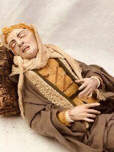 Figura-Benino-dormiente-30-Cm-Presepe-Arte-Presepiale-Krippe-Belen-Napolitano
