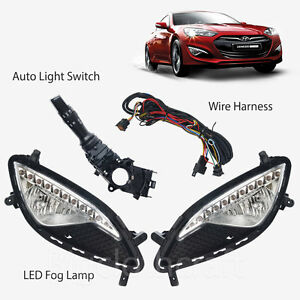 oem led fog light lamp complete kit wiring harness for. Black Bedroom Furniture Sets. Home Design Ideas