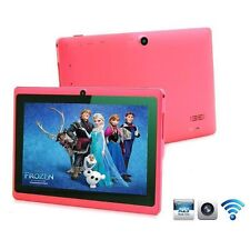 "Pink 8GB 7"" Android 4.4 Tablet PC for Kids Children A33 Quad Core Kid MID WiFi"