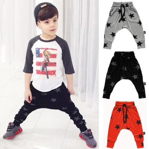 Baby Kids Boys Girls Harem Sports Pants Sweatpants Leggings Trousers Sportswear