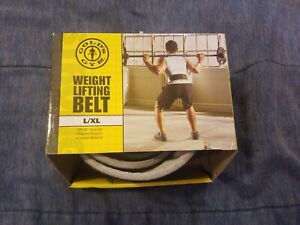 """Training Belt 42"""" L//XL 34"""" Back Support GOLDS GYM Leather Weight Lifting"""