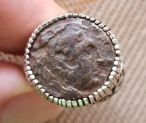 Alexander-the-Great-Portrait-Authentic-Ancient-Greek-Coin-925-Silver-Ring-Sz-12