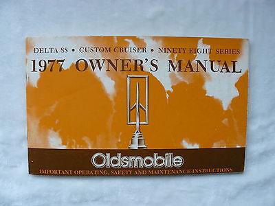 Oldsmobile - 1977 Owner's Manual - Us-betriebsanleitung / Operation Manual 1976 Verpackung Der Nominierten Marke