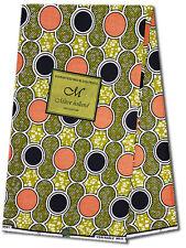 African Fabric Ankara~Coral/Brown/Black ~UK Imported Wax Print, 6 Yd MX305