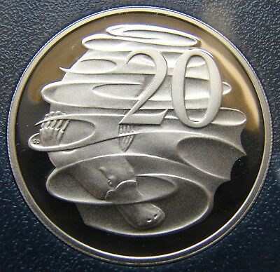 Brilliant coin in 2 x 2 holder SCARCE 1985 20 cent proof coin.Only 74,089 made