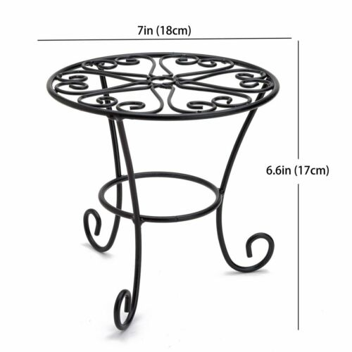 THY COLLECTIBLES Metal Potted Plant Stands Rust Proof Iron Art Flower Pot...
