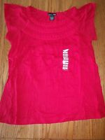 Womens Rxb Crinkle Red Size Small S $48 Short Sleeve