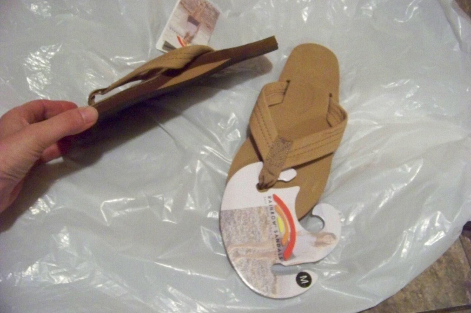 New femmes rainbow premier sierra leather flip flops sandals chaussures sz m 6.5-7.5