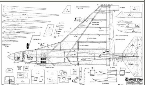 "/""North Star/"" 44 inch Wing Span  Anphibian Sport  Delta RC Model AIrplane Plans"