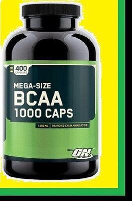 OPTIMUM NUTRITION BCAA 1000MG 400 CAPS WorldWide Shipping