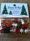 "Dress it Up ""Christmas Miniatures"" Buttons Snowman Tree Sleigh Stocking"