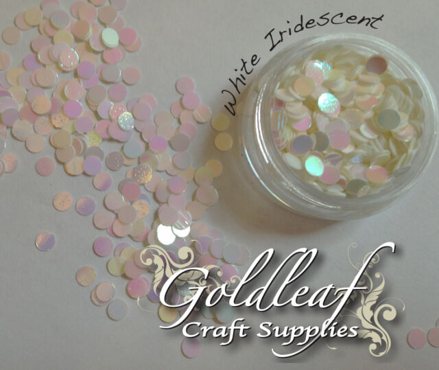 Nail Art Glitter Studs sequin discs dots 3mm - Silver