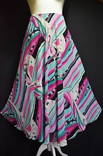 """Ladies Summer Skirt A Line 36"""" Long Fit and Flair Chic 10 12"""