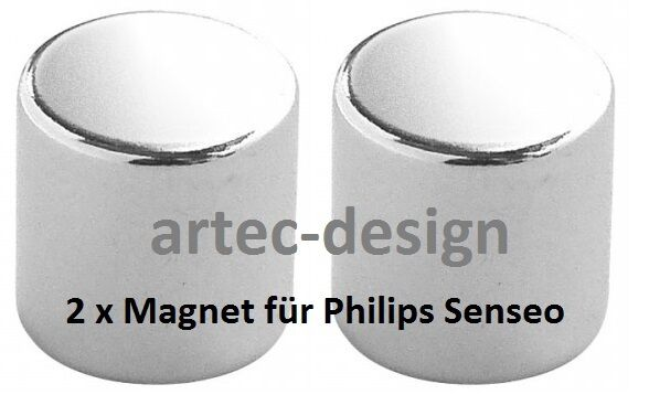2 x Magnet für Senseo HD 7855 7856 7857 7858 - vernickelt & wasserresistent -