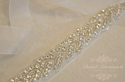 CONSTANCE Vintage Crystal Bridal Sash-Rhinestone Wedding Dress Belt-Bridal Sash
