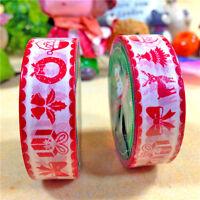 Christmas Washi Tape Paper Masking Sticky Adhesive Roll Craft Decorative Trim 15