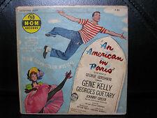 "Rare! 45RPM ""An American In Paris"" Gene Kelly MGM X93 George Gershwin Music"