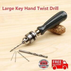 Mini Micro Hand Drill Chuck With 5pcs Twist Drill Bit Jewelry Craft Diy Tool Cy