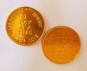 Steps-to-Recovery-Aluminum-AA-Medallions-AA-chips-1-Day-at-a-Time-Gold