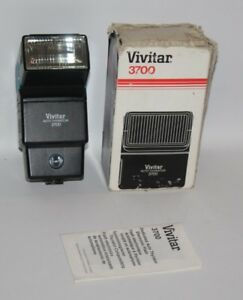 Vivitar-3700-Auto-Thyristor-Bounce-Swivel-Flash-for-Pentax-Box-Manual-Working