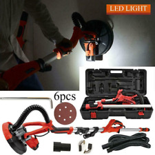 New Listing750w Drywall Sander Electric Sanding Tool Dry Wall Carrying Case Kit Withled Light
