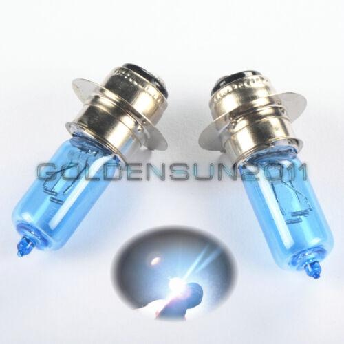 2x Super White Xenon Headlight Bulbs For Kawasaki KLF220 Bayou 1988 1989 1990 91