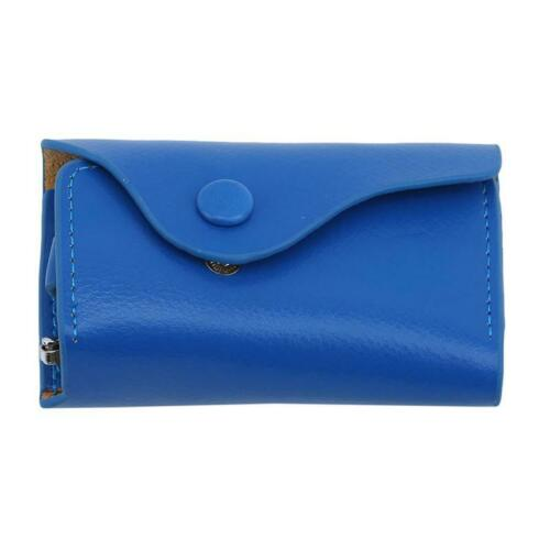 Men Women Retro PU Leather Keychain Bag Wallet Car Key Case Holder Keyring W