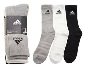 Adidas Men 3S PER Crew HC 3 Pairs Socks White Sports Casual Fashion Sock AA2299