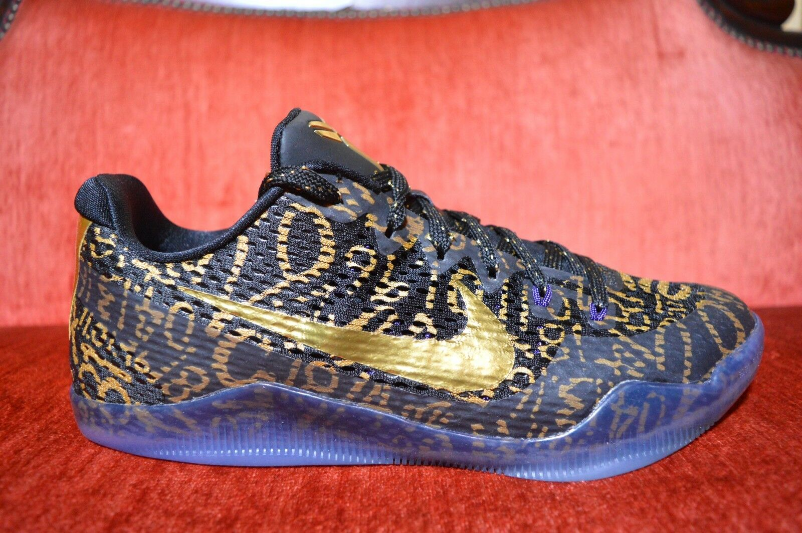 Neue nike mambacurial kobe xi 11 mamba tag qs - id mambacurial nike schwarzes gold in größe 10 865773-992 d89409