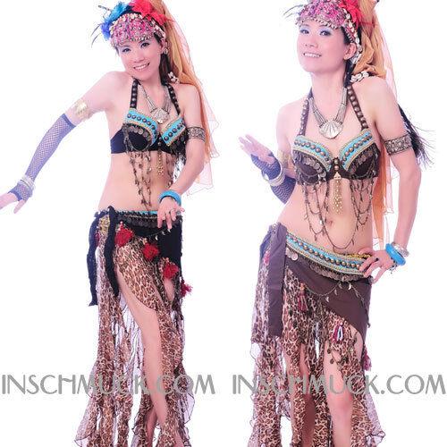 C91930 Bauchtanz Kostüm 2 Teile  BH Gürtel  Tribal