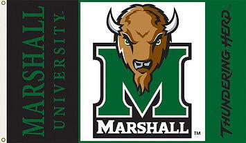 Marshall Thundering Herd 3x5 Flag Banner Football Basketball University of