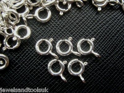 Good Quality Solid Sterling Silver 925 Bolt Ring Clasps - Open 6mm