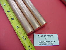 3 Pieces 34 C110 Copper Round Rod 10 Long H04 Solid Cu New Lathe Bar Stock