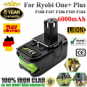P104 RB18L15 Ersatzakku 2x//4x Für Ryobi P108 Lithium Akku 18V 4,0Ah RB18L40 ONE