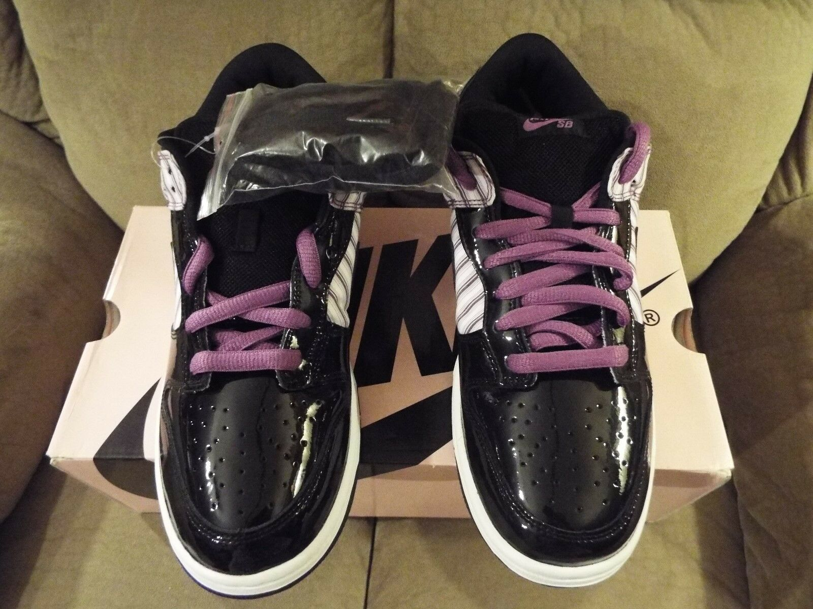 05 NIKE DUNK LOW PRO SB 304292-101 PL Avenger Purple White/Black-Hyancinth 304292-101 SB sz10 607561