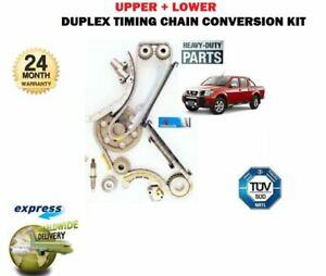 FOR-NISSAN-NAVARA-D40-2-5TD-2005-gt-UPPER-amp-LOWER-TIMING-DUPLEX-CHAIN-CONVERSION