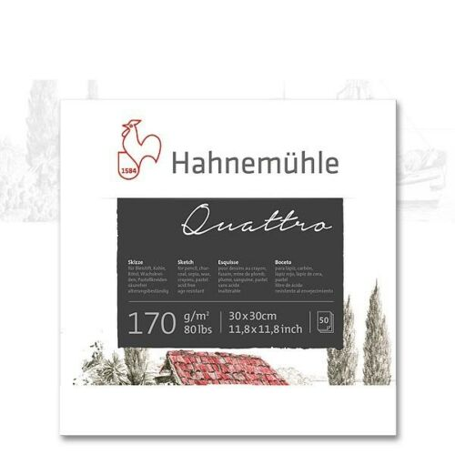 Bloc d/'esquisse Quattro 30 x 30 cm Hahnemühle 10628321 170g//m² 0,20 €//Feuille