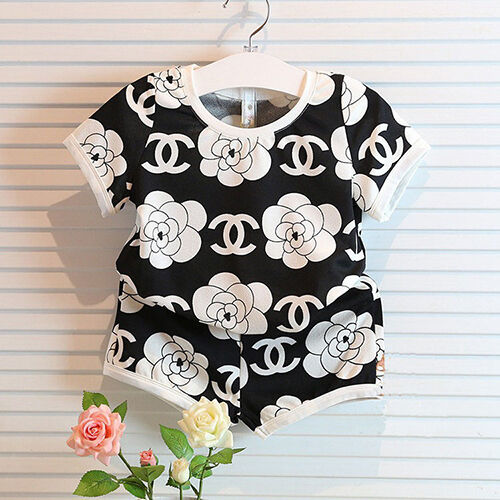 New Girls Toddler Girl Shirt Cute Shorts Clothing Outfit Top Pant Clothing Set