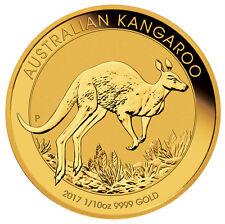 2017-P Australia $15 1/10 oz. Gold Kangaroo (Original Mint Cap) SKU43414