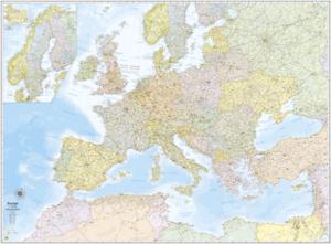 EUROPA CARTINA MURALE [131x97 CM] [IN PIANO, SENZA ASTE] [CARTA/MAPPA] BELLETTI