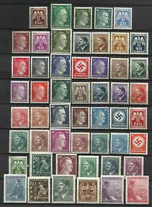 GERMANY-ADOLF-HITLER-ERA-STAMP-COLLECTION-PACKET-of-50-DIFFERENT-Stamps-MNH