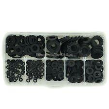 Black Nylon Flat Washer Assortment Kit, for M2 M2.5 M3 M4 M5 M6 M8 Screw/Bolt.