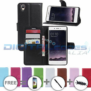 huge discount 9e28b bbadd Details about Premium Leather Wallet Case for Oppo F1 / F1S Cover Stand  Optus