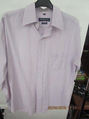 Ben Sherman Camicia Uomo Lilla Button Down Medio-mostra Il Titolo Originale Fornitura Sufficiente