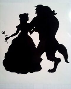 beauty and the beast vinyl decal sticker 6 x 6 ikea ribba frame black or white ebay. Black Bedroom Furniture Sets. Home Design Ideas