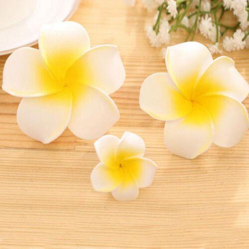 2pcs Jaune Hawaïen Plumeria Fleur Mousse Pince à cheveux épingle à cheveux Hair Accessories