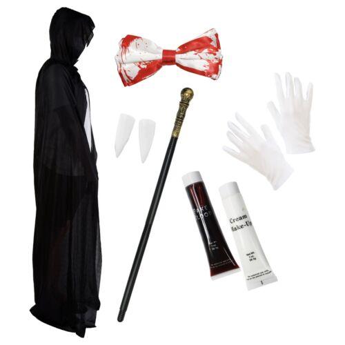 Vampire Dracula Halloween Fancy Dress Costume Deluxe Set